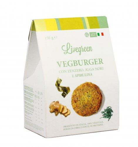 Preparato Vegburger con Zenzero, Alga Nori e Spirulina