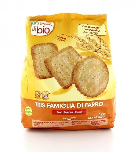 Break & Bio - Biscotti Tris Famiglia di Farro