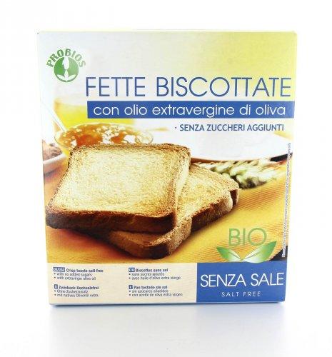 Fette Biscottate senza Sale con Olio d'Oliva