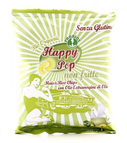 Happy Pop - Chips di Mais & Riso con Olio Extravergine di Oliva