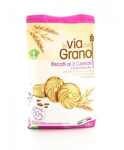 La Via del Grano - Biscotti ai 3 Cereali con Orzo e Avena