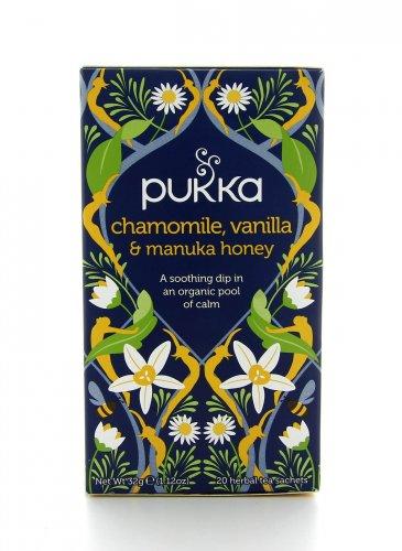 Tisana Pukka - Chamomile Vanilla e Manuka Honey