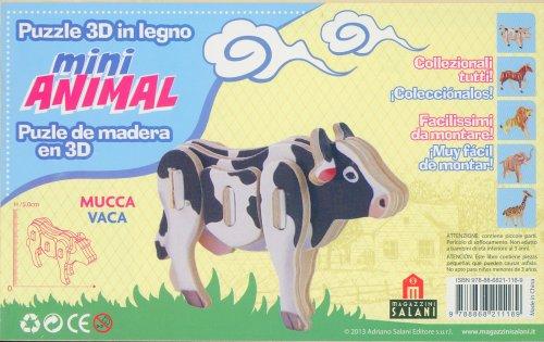 Puzzle 3D in Legno - Mucca