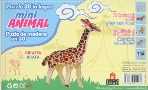 Puzzle 3D in Legno - La Giraffa