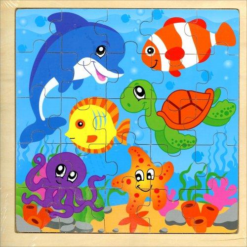 Puzzle in Legno - Animali Marini