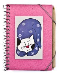 Quaderno Spirale i Gatti di Nic Rosa con Penna