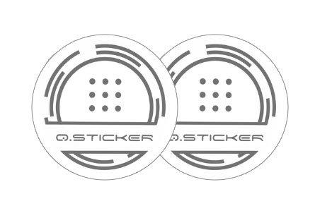 Q Sticker Running - Adesivo Quantico