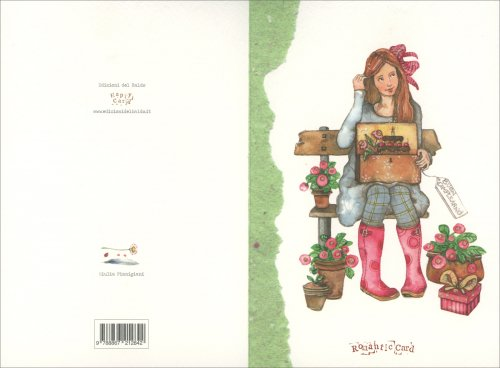 Romantic Card - Ragazza Su Panchina