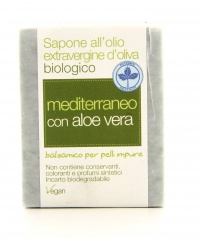 Sapone all'Olio Extravergine d'Oliva - Mediterraneo con Aloe Vera