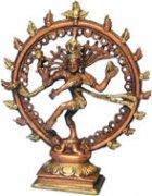 Statua in Ottone Shiva Nataraj