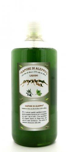 Sapone di Aleppo Liquido con Olio di Oliva e 25% Olio di Alloro - 1 litro