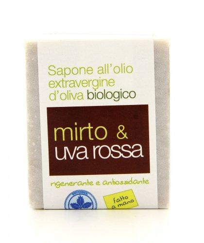 Sapone all'Olio Extravergine di Oliva - Mirto e Uva Rossa
