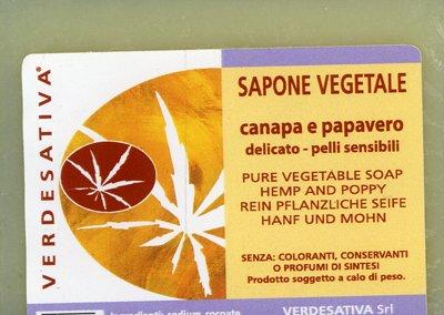 Sapone Vegetale Canapa e Papavero
