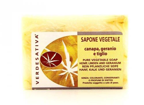 Sapone Vegetale Canapa, Geranio e Tiglio