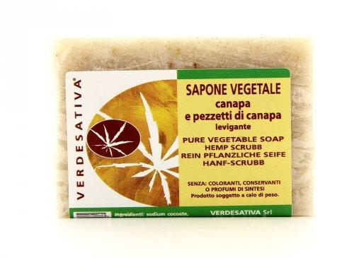 Sapone Vegetale Canapa e Pezzetti di Canapa