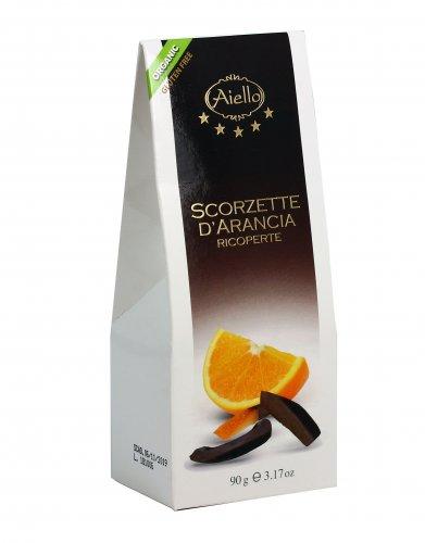 Scorzette d'arancia Ricoperte al Cioccolato Extra Fondente
