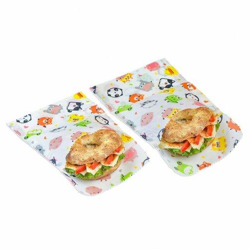 Set 2 Sacchetti per Snack e Sandwich - Cera d'Api
