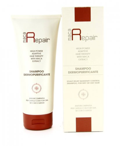 Shampoo Dermopurificante con Maca - 200 ml.