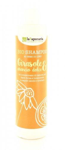 Shampoo Naturale ai Semi di Lino - Girasole e Arancio Dolce