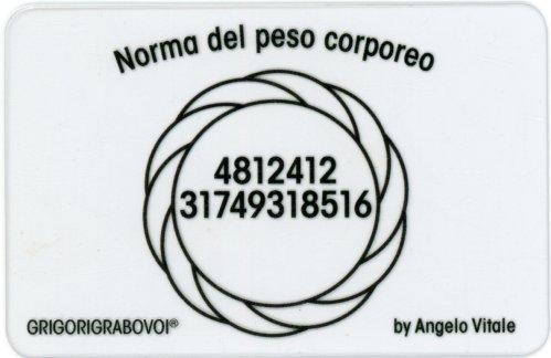 Tessera Radionica - Norma del Peso Corporeo