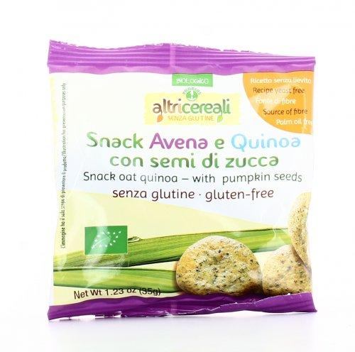 Snack Avena e Quinoa con Semi di Zucca