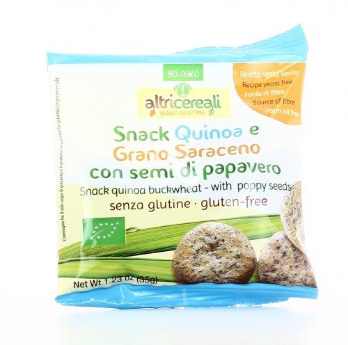 Snack Quinoa e Grano Saraceno con Semi di Papavero
