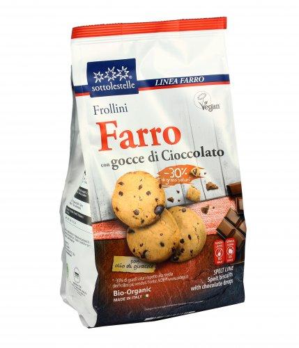 Frollini di Farro con Gocce di Cioccolato Bio