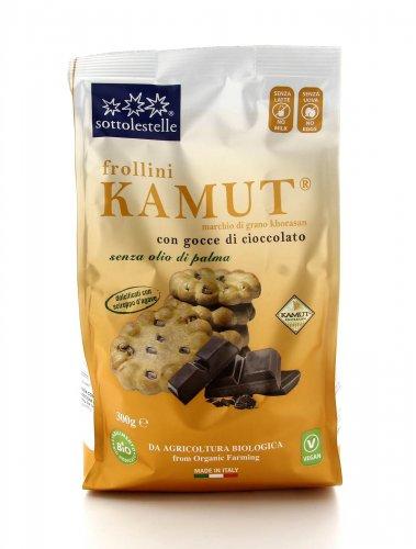 Frollini KAMUT® - grano khorasan con Gocce di Cioccolato Bio