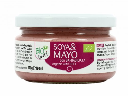 Maionese Vegetale con Barbabietola - Soya&Mayo BioGustì