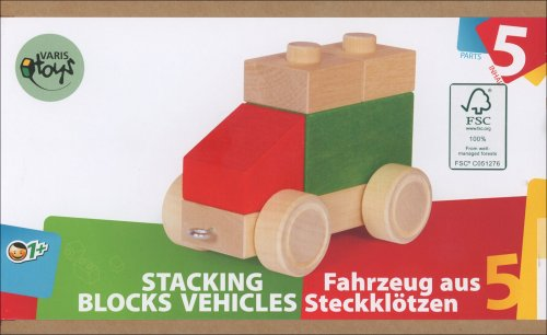Auto in Legno in 5 Parti Assemblabili
