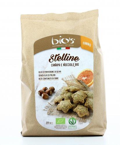 Biscotti Stelline di Farro, Canapa e Nocciole