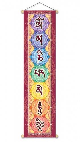 Stendardo con Mantra Om Mani Padme Hum
