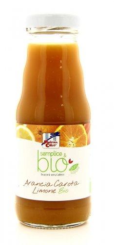 Succo Biologico con Arancia, Carota e Limone