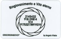 Tessera Radionica 14 - Ringiovanimento e Vita Eterna