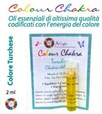 Colour Chakra Oil Turchese 2 ml - Equilibrio, comunicazione, rigenerazione