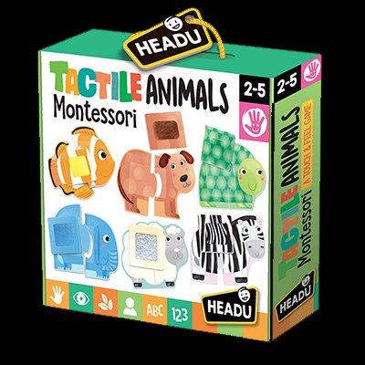 Montessori - Tactile Animals 2/4 Anni