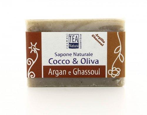 Sapone Naturale Olio di Cocco & Oliva con Argan e Ghassoul