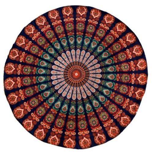 Telo Mandala Blu Arancione