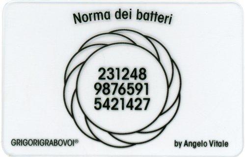 Tessera Radionica 40 - Norma dei Batteri