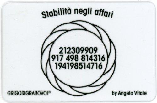 Tessera Radionica - Stabilità negli Affari