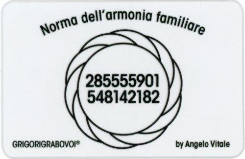Tessera Radionica - Norma dell'Armonia Familiare