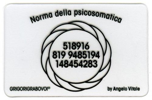 Tessera Radionica - Norma della Psicosomatica
