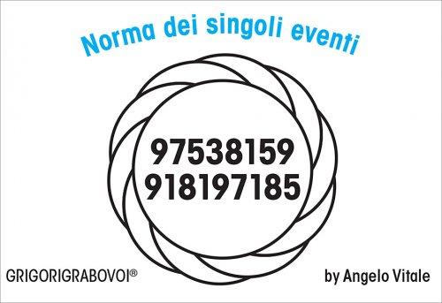 Tessera Radionica - Norma dei Singoli Eventi