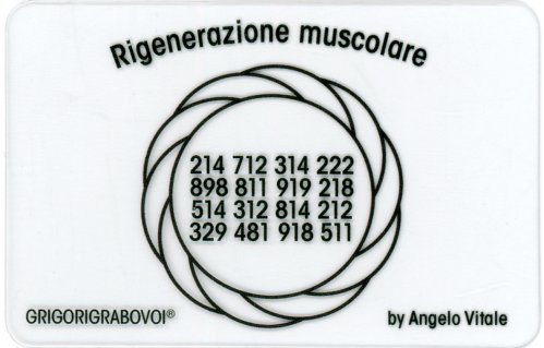 Tessera Radionica - Rigenerazione Muscolare