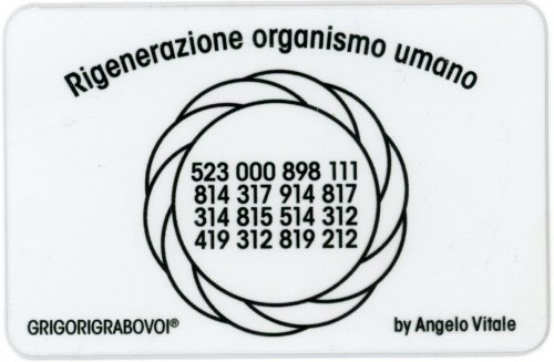 Tessera Radionica - Rigenerazione Organismo Umano