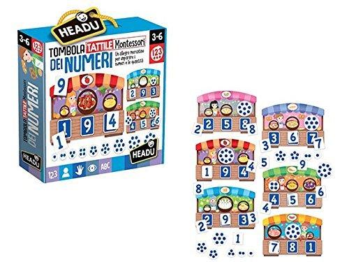 Tombola Tattile dei Numeri Montessori 3-6 Anni