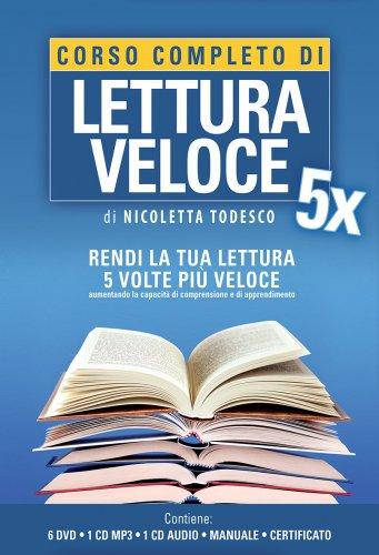 Corso Completo di Lettura Veloce 5X - Con 6 DVD, 1 Manuale, 1 CD Mp3 e 1 CD Audio