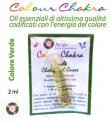 Colour Chakra Oil Verde 2 ml - Amore, compassione, stabilità emotiva