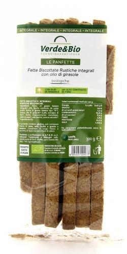 Fette Biscottate Rustiche Integrali con Olio di Girasole