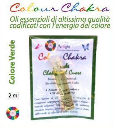 Colour Chakra Oil Verde 2 ml - Amore, compassione, stabilità emotiva